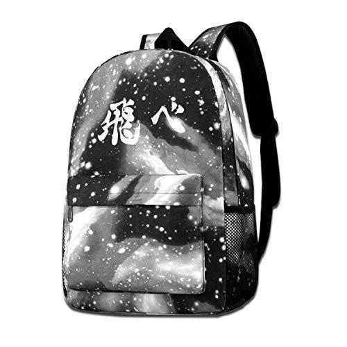 XCNGG ¡Haikyuu! Mochila Starry Sky Multifunción Bookbag Laptop Bolsa de Hombro para Adolescentes Niños Niñas Gris