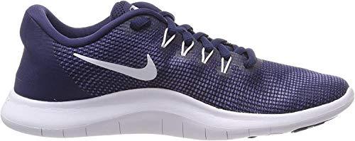 Nike Men's Flex 2018 Rn Midnight Navy/White Ankle-High Mesh Running Shoe - 9.5M