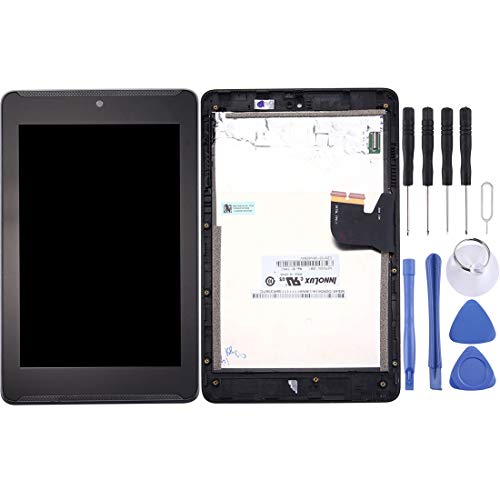 Dmtrab para Pantalla LCD de la Pantalla LCD de Repuesto y digitalizador Asamblea con Marco Completo for ASUS Fonepad 7 / ME372CG / ME372 K00E (Negro) (Color : Black)