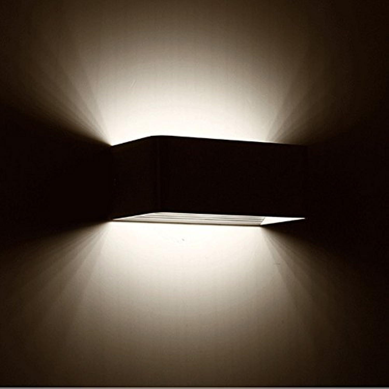 StiefelU LED Wandleuchte nach oben und unten Wandleuchten Schlafzimmer Zimmer Nachttischlampe led Wandleuchten Hotel Technik off road Lights    Innen- Wand- SQUARE Wand Lampe, schwarz, 30 cm 12 w