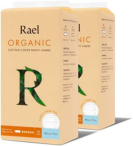 Rael Organic Cotton Panty Liners Everyday Freshness Daily Panty Liners Chlorine Free Unscented product image