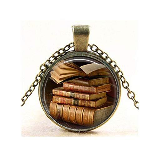 Antiker Bücheranhänger Vintage Buch alte Bücher Geschenk für einen Bibliothekar Buchliebhaber Bücherwürmer Geschenk Schlüsselanhänger