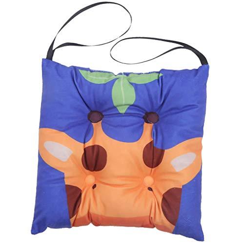B Blesiya Quadratisches Stuhlkissen Sitzkissen Sitzpolster Stuhlauflage Boden Stuhl Auflage Kissen, Giraffe Design - 30x30cm