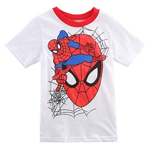 Camiseta de algodón para bebé con diseño de héroe con texto en inglés 'Super-h-e-l-d' Blanco 4-5 año