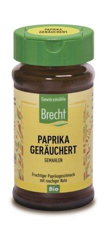Brecht Paprika geräuchert, Bio, im Glas, 40g