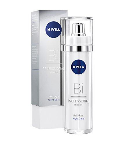 NIVEA PROFESSIONAL Bioxilift Nachtpflege, Creme Nachtcreme fürs Gesicht, straffende Anti-Aging Pflege gegen Falten, Anti-Falten Gesichtspflege, Anti Aging Gesichtscreme für straffe Haut, 1 x 50 ml