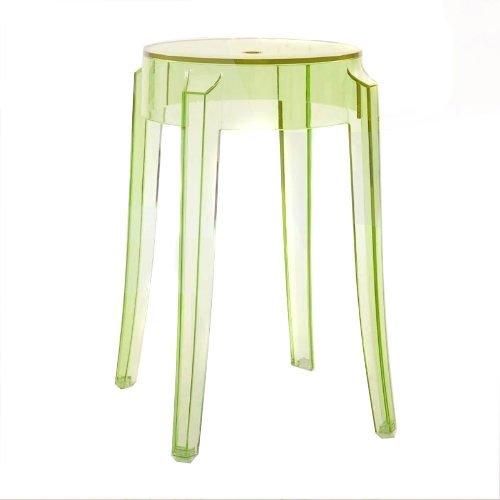 Kartell 4897 / P8 Charles Ghost Kruk, hoogte 46 cm, groen, 1 stuk
