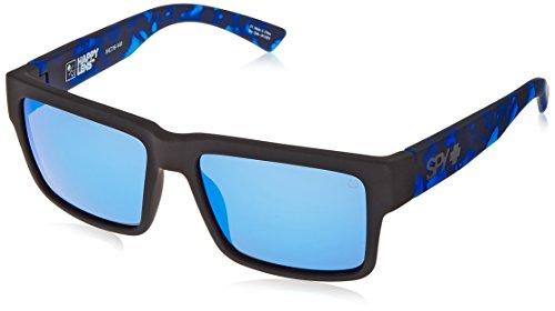 Spy MONTANA - Camiseta suave de color negro mate y azul marino – verde gris feliz con espectra azul oscuro, talla única
