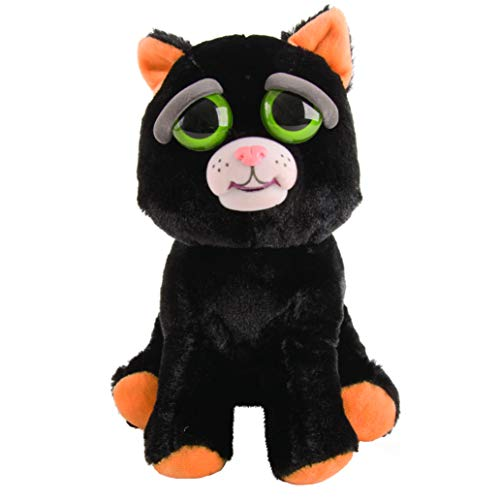 Mac Due Italy–Peluche Feisty Pets Gato, Color Negro, 323629