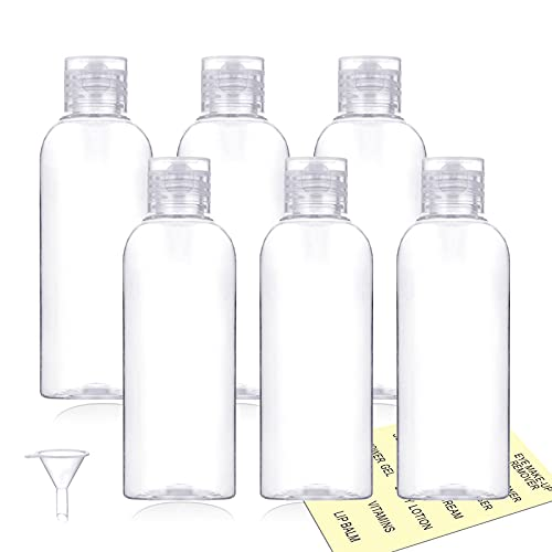 Plastic Travel Bottles,100ml/3.4oz Empty Small Squeeze Bottle Containers for Toiletries With Flip...