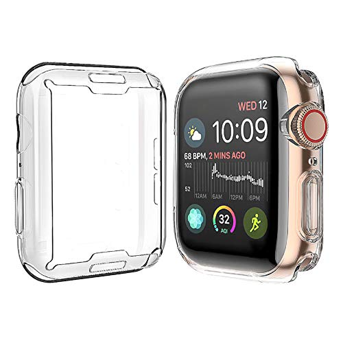 Misxi 【2枚セット】 対応Apple Watch Series 6 SE/Series 5 / Series 4 40mm ケース, 対応アップルウォッチシリーズ 6/SE/5/4 40mm TPUカバー (2クリア)