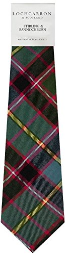 I Luv Ltd Gents Neck Tie Stirling and Bannockburn Modern Tartan Lightweight Scottish Clan Tie
