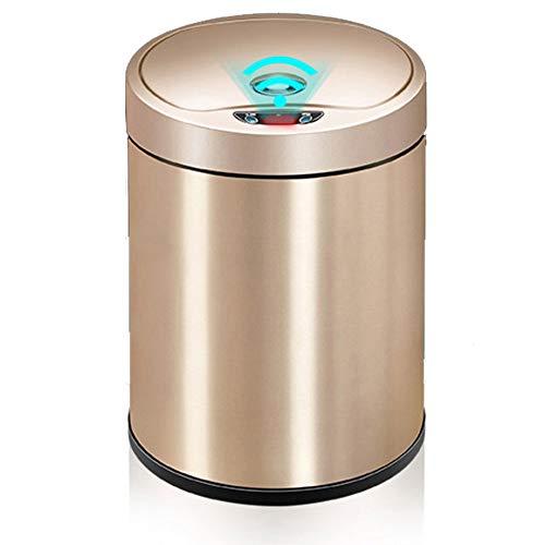 ZFF Sensor automático de Basura Puede hogar Sala de Estar Dormitorio Cocina baño Inteligente con Tapa de Basura eléctrica (Size : Small)