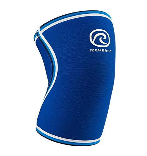 Rehband Knee Support Sleeve - 7084-7mm - Blue - Medium - 1 Sleeve