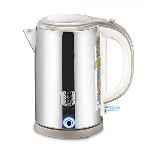 Electric Kettles LIANG, 1.5L Stainless Steel Double Wall Water, Water Boiler,1800W, Electric Teapot With Overheat Protection Boil Dry Protection And Automatic Closing Function,