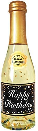 AV Andrea Verlag Pfeif auf's Alter Neutral im Geschenke Set für Frauen zum Geburtstag mit Piccolo 22 Karat Blattgold Gold schwarz (Piccolo HB Gold neutral 56008)