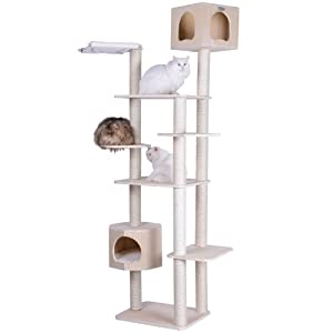 Armarkat 89″ Solid Wood Cat Tree Condo Furniture S8902, Tan, 49″(L) X34(W) X89(H)