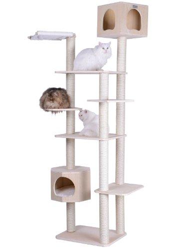 Armarkat 89' Solid Wood Cat Tree Condo Furniture S8902, Tan, 49'(L) X34(W) X89(H)