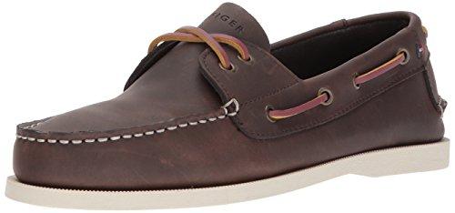 Tommy Hilfiger Men's Bowman Boat shoe,Coffee Bean,8 M US