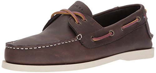 Tommy Hilfiger Men's Bowman Boat shoe,Coffe Bean,11 M US