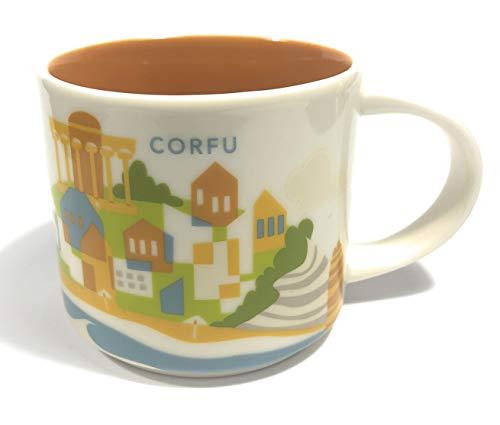 Starbucks Korfu (Griechenland) Sie Befinden Sich Hier Yah Kaffeetasse Orange