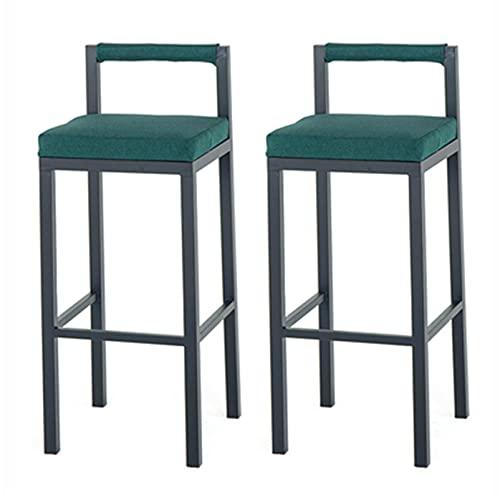 URINGO Paquete de 2 sillas Altas para Cocina, Bar, mesas de recepción, sillas, salón, Taburete de Cintura, Bar, cafetería, Restaurante, Silla Japonesa de Hierro Forjado