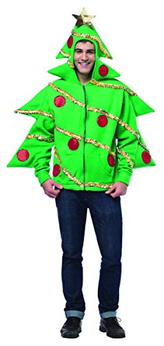 Rasta Imposta Men's Juniors Hoodie Christmas Tree, Green/Multi, One Size