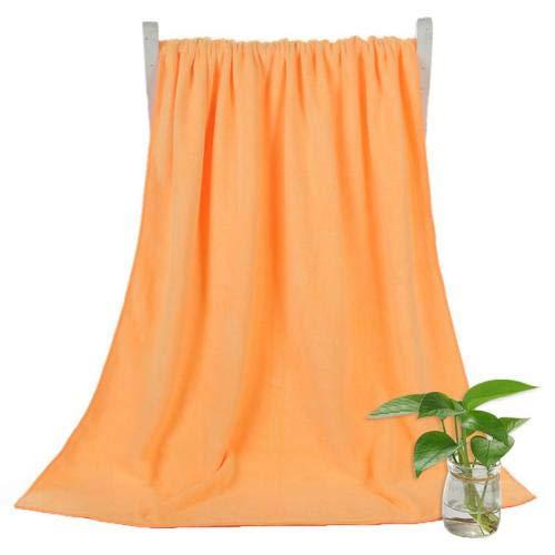 Heliansheng Toalla de Playa súper Absorbente de Toalla de baño de Secado rápido de Color sólido de 140 * 70 cm - Amarillo Anaranjado