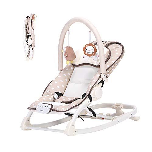 Baby schommel stoel, multi-functionele muziek cradle kan zitten en liggen gemakkelijk te vouwen geschikt voor baby's 0-18 maanden