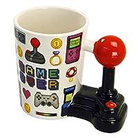 Puckator FRUTITOSCOM - Taza - Game Over con asa en Forma de Joystick y Dibujo...