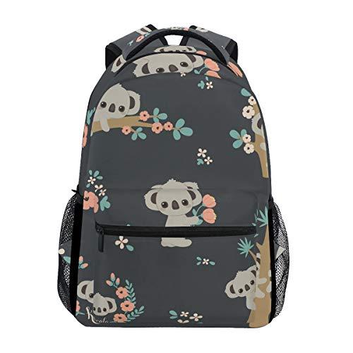 OREZI Cute Koala Floral School Backpack Travel Daypack Rucksack for Boys Girls