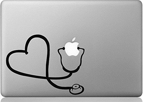Apple Macbook Vinyl Decal Sticker - Stethoscope Heart