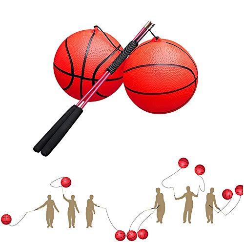 Ronda Flick Ball, codos Ejercicio muñecas cintura hombros rodillas unión del mástil que despide bola de los deportes Para mediana edad y de edad avanzada balonmano Flick bola, 2pcs de color naranja