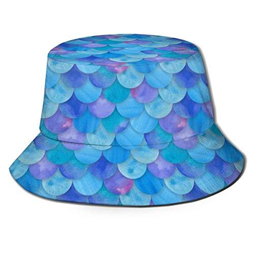 Jacklee, cappello unisex scozzese scozzese scozzese da viaggio, secchiello da pescatore Bilancia da sirena blu marino Taglia unica