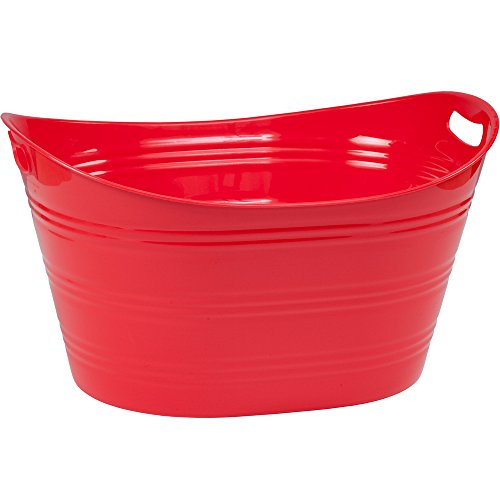 CreativeWare Red Party Tub 8.5 Gl, Fire, 8.5 Gallon