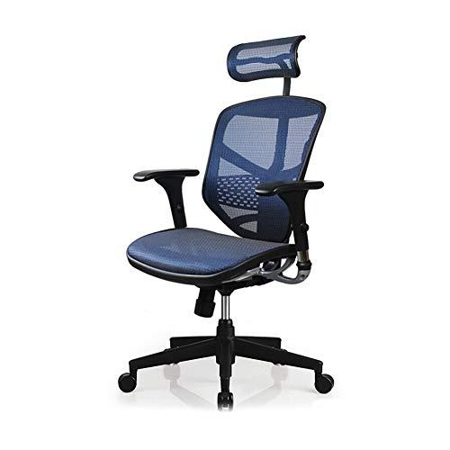 Bürostuhl Ergonomisch Schreibtischstuhl Bürostuhl Computer Stuhl,Zurücklehnen Bequemer Chef Chair Mesh Chair Nylon Feet-silverywhite