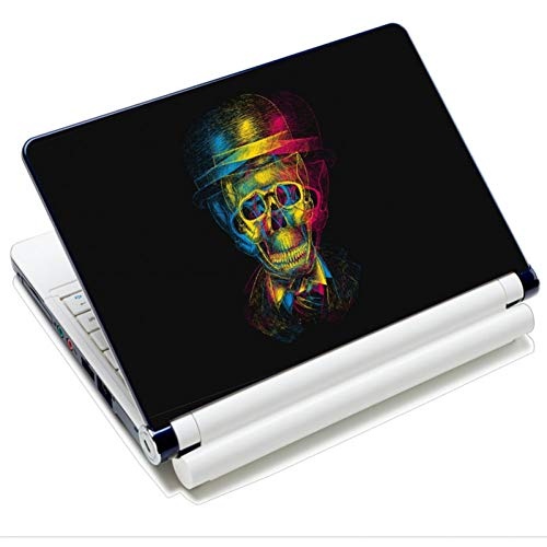 HUATULAI laptopbeschermfolie voor 12-15,6 inch (12-15,6 inch), waterdicht, herbruikbaar, met lederen stickers, druk op PVC voor HP MacBook Pro Air Acer