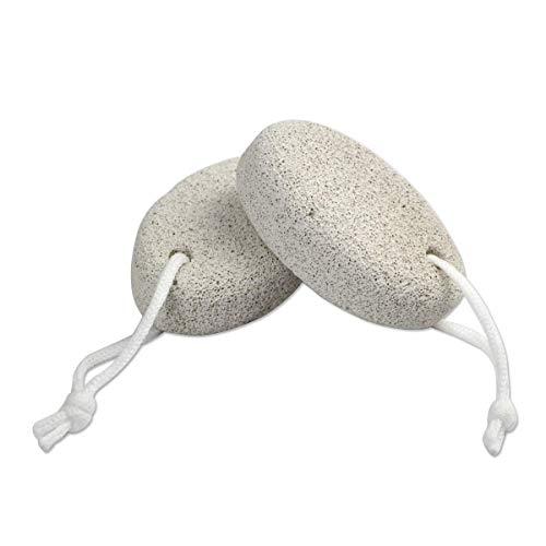 Pumice Stone,Natural Foot File Feet Hard Skin Callus Remover Scrubber,Exfoliation Remove Dead Skin Pedicure Tool 2 Pack