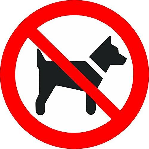 Akachafactory stickers voor deur, auto, winkel, gazon, verboden hond