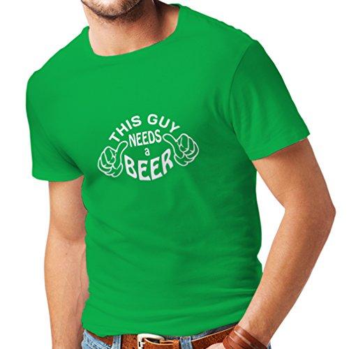 lepni.me Heren T-shirt Deze kerel heeft een Bier Humor Gift Ideeën voor Bier Liefhebbers