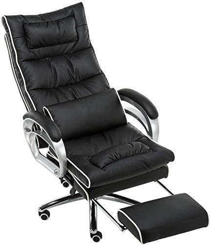 Stoel meubels ontworpen massage gaming stoel kunstleer bekleding bureaustoel in zwart + wit kleur computer-bureaustoel