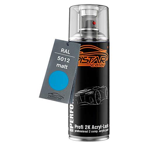 RAL 5012 Lichtblau matt 2K Acryl Spraydose Sprühdose Sprühlack Spritzlack 400 ml schnelltrocknend