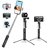 Selfie Stick, Mpow 4 in 1 Selfie Stick Tripod with Light,Extendable Pocket Phone Tripod with Bluetooth Remote Selfie Stick for Cell Phones and Action Cameras, Mini Cameras, Mini Size and Handy