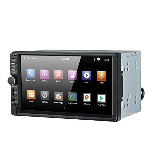 【Universalradio】 LEXXSON Android 2 Din-Autoradio mit Navigation, Android AM FM-Radio Eingebauter Bluetooth-GPS-Empfänger WiFi-Unterstützung Lenkradsteuerung Mirrorlink