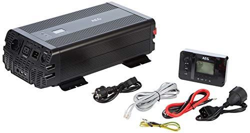 AEG Automotive 10063 Sinus Spannungswandler Inverter 2000 Watt 12 Volt auf 230 Volt mit App-Steuerung, Netzvorrangschaltung, Lüftersteuerung