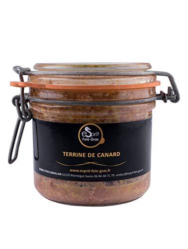 Esprit Foie Gras - Terrine de Canard 300 grs Conserverie familiale du Gers - Canard élevé et transformé dans le Gers - Médaille de bronze 2020 concours général agricole de Paris