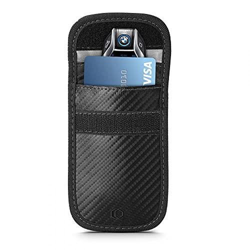 Tech-Protect V1 Keyless Go – Funda para llave de coche RFID con bloqueo de señal, carbono