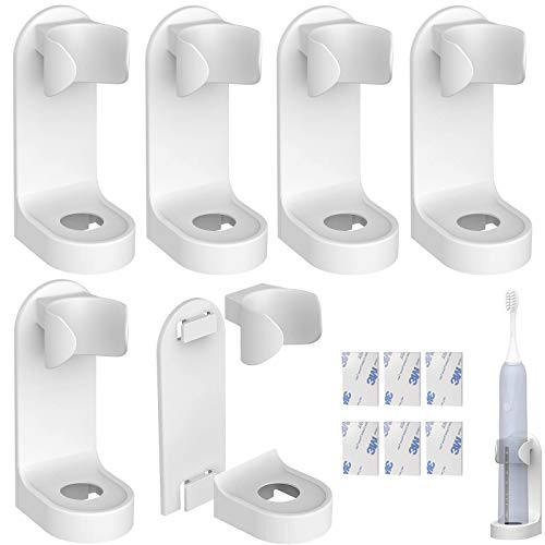 xianzhanEU - Soporte de pared para cepillos de dientes eléctricos, 6 unidades,...