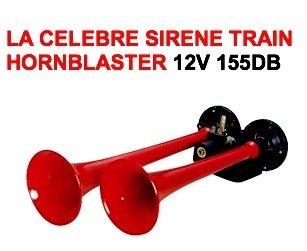 HORNBLASTER KLAXON Locomotive 2 TROMPES CHROMEES 155DB LCM2014 24V Puissance Incroyable Raid Preparation 4X4 LA CELEBRE HORNBLASTER