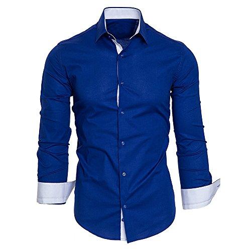 BaZhaHei Hombre Camisa Manga Larga Slim Fit S-11XL
